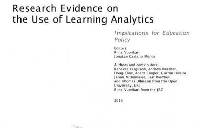 """Research Evidence on the Use of Learning Analytics: Implications for Education Policy"" report cover"
